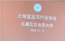 上海宝玉石行业协会第五届第三次会员大会开幕