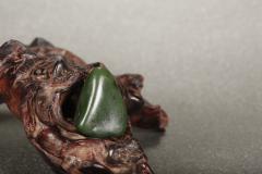 【藏玉臻品】绿水青山,碧玉,新疆和田籽料,邀您共赏